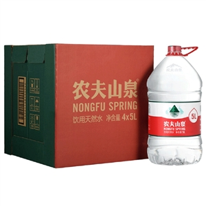 【供货商直发】农夫山泉 饮用天然水5L*4桶 从大自然搬运的弱碱性水